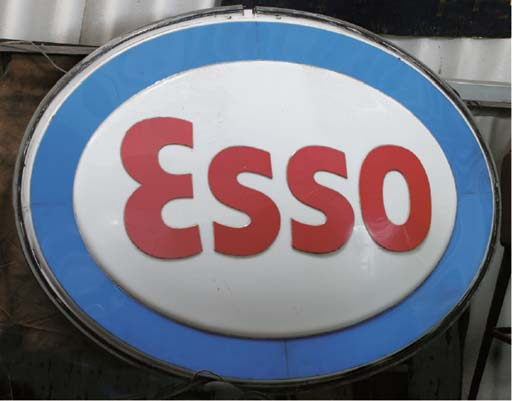 Esso - A pair of large embosse