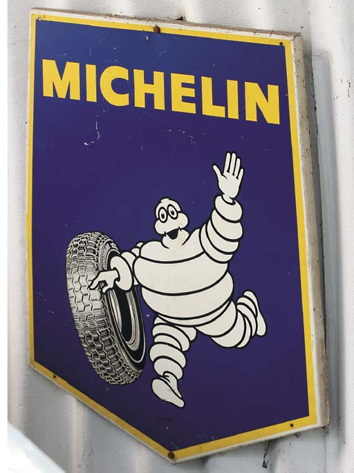 Michelin - Two enamelled garag