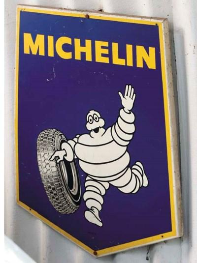 Michelin - Two enamelled garag