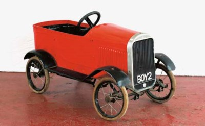 A pre-war childs pedal car by
