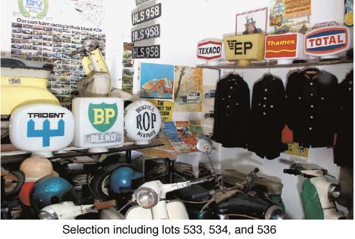 A group of five post-war plast