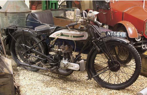 1925 Triumph with Sidecar