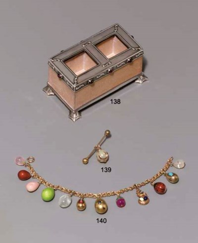 A jewelled silver-mounted bric