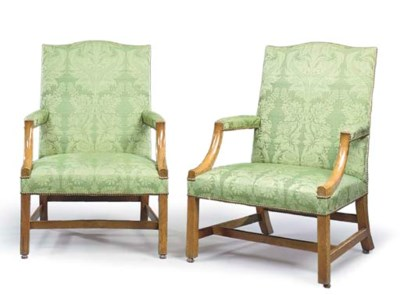 A PAIR OF GEORGE III WALNUT LI
