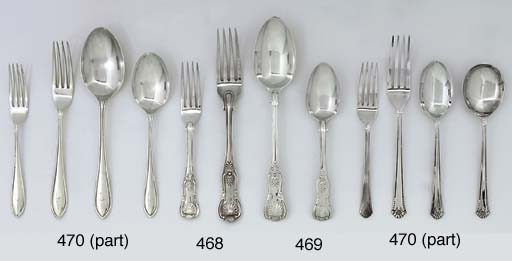 A COMPOSITE GEORGE IV AND LATER TABLE-SERVICE