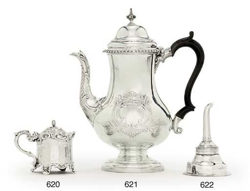 A GEORGE III SILVER WINE-FUNNEL