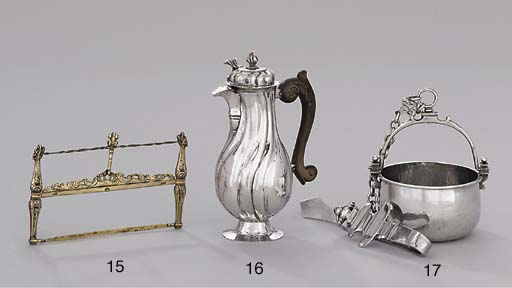 A Spanish silver-gilt model of