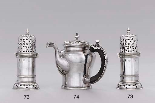 A pair of James II silver cast
