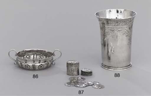 A Charles II silver beaker