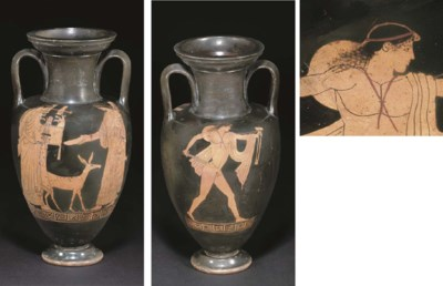 AN ATTIC RED-FIGURE NECK AMPHO