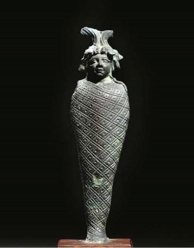 A RARE ROMANO-EGYPTIAN BRONZE