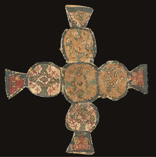 A GROUP OF COPTIC TEXTILE TUNIC FRAGMENTS