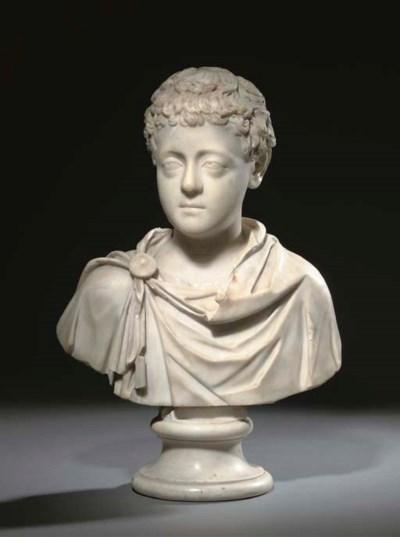 A ROMAN MARBLE PORTRAIT BUST O