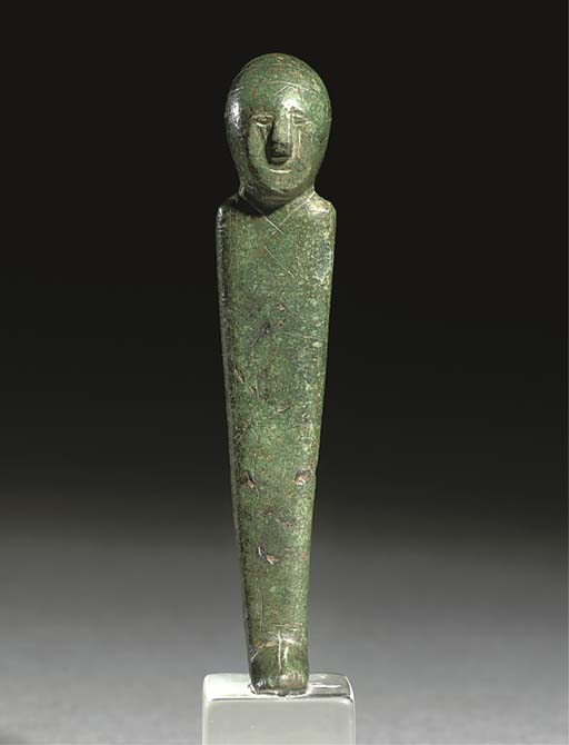 AN IBERIAN BRONZE 'PRIEST' FIG