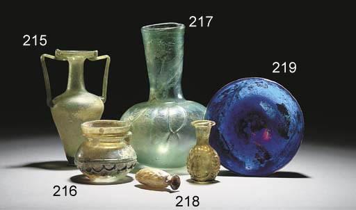 A ROMAN BLUE GLASS BOWL