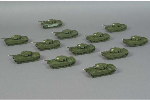 Britains Lilliput matt green LV610 Centurion Tanks
