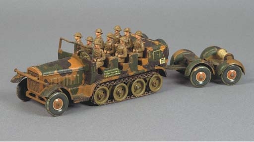 A Tipp & Co British-market clockwork Half-Track Troop Carrier