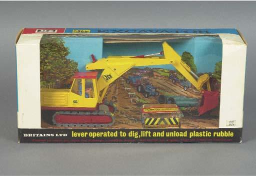 A Britains 9580 JCB 3C Mk III Excavator