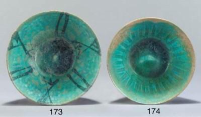 A Nishapur turquoise glazed co