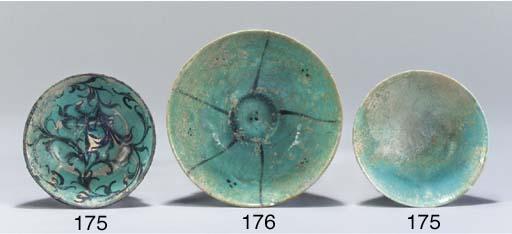 A Nishapur turquoise glazed po