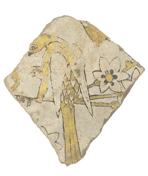 Five Timurid tile fragments, I
