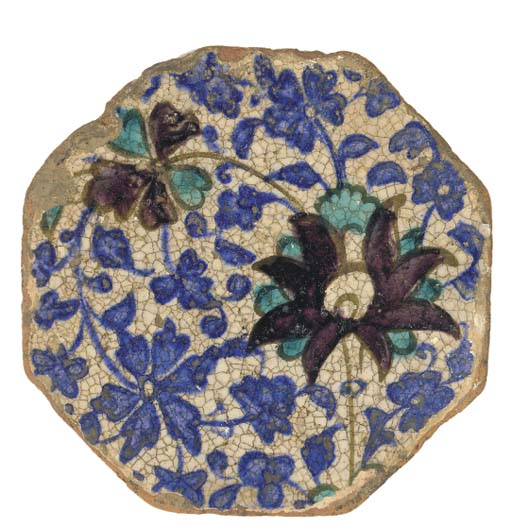 An octagonal tile, Bokhara, 19