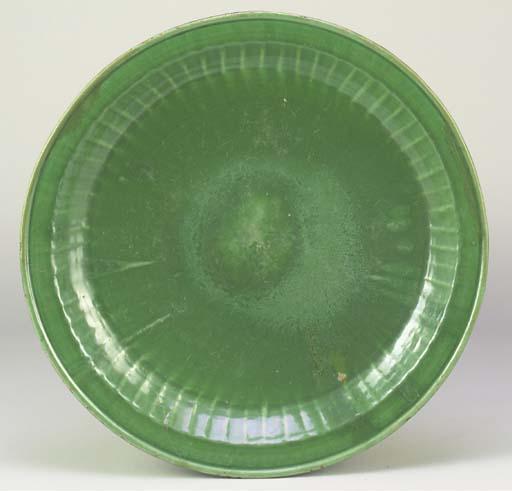 A Safavid green glazed pottery