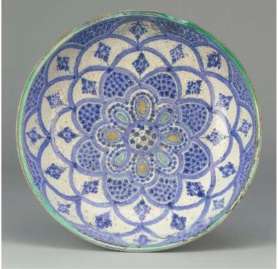 A Moroccan pottery bowl, proba