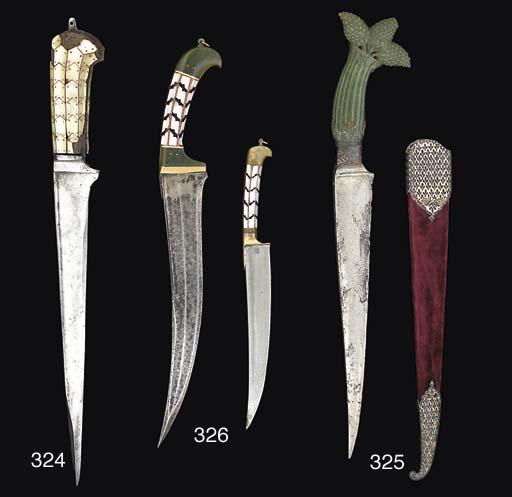An Indian dagger (Pesh kabz),
