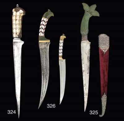 A Mughal dagger (Pesh Kabz), N