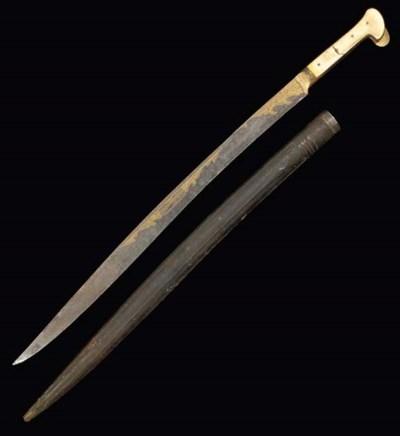 An Ottoman sword (Yataghan) Tu