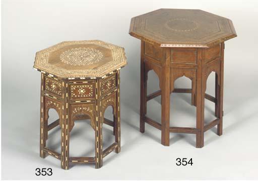 A Hoshiapur ivory inlaid table