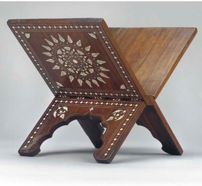 AN INLAID QURAN STAND, INDIA,