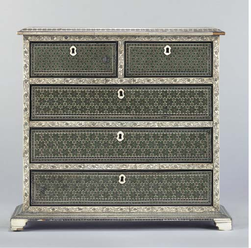 A BOMBAY INLAID TABLE CABINET,