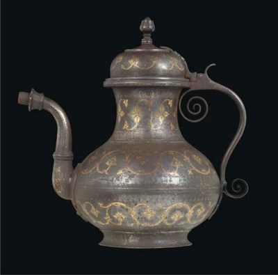A KOFTGARI EWER AND COVER, IND