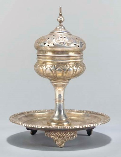 A SILVER CENSER AND COVER, NOR
