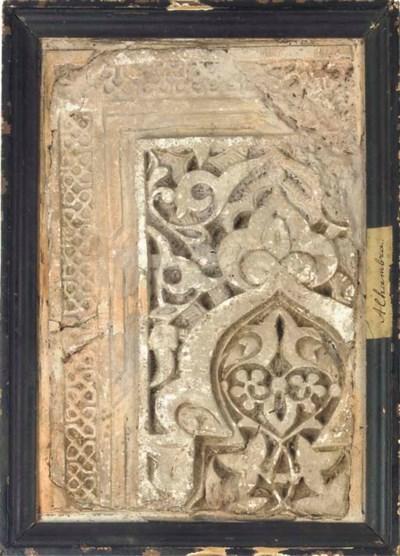 A Moresque stucco fragment, Sp