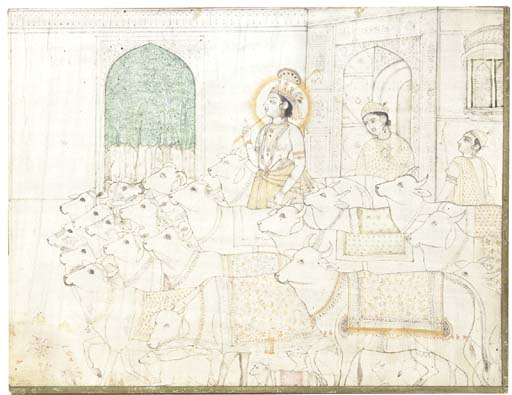 KRISHNA WITH THE COWHERDS, MAN