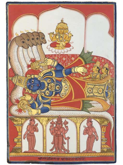 VISHNU RECLINING ON THE SERPEN