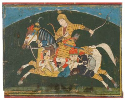 A COMPOSITE HORSE AND RIDER, J