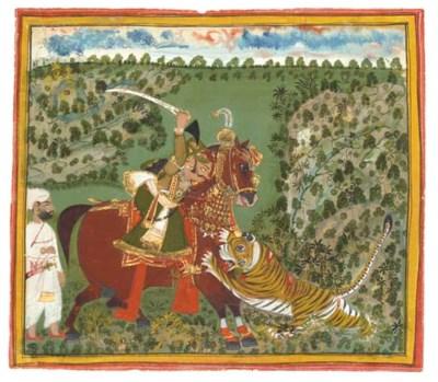 A LION HUNT, DEVGARTH, 19TH CE