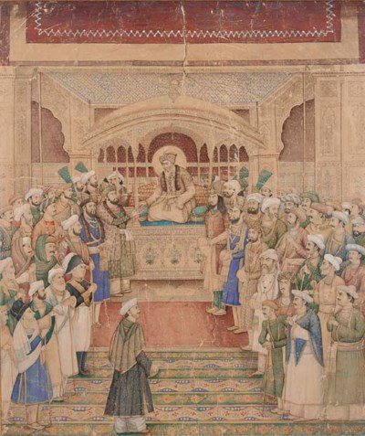 DURBAR OF AKBAR II, DELHI, CIR