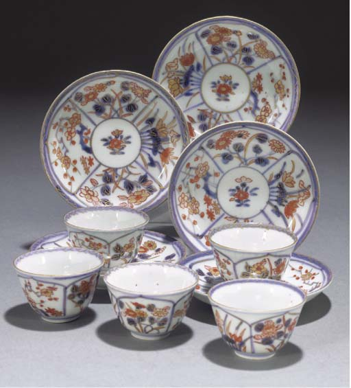 A set of five Japanese Imari t