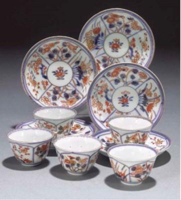 A set of five Japanese Imari t