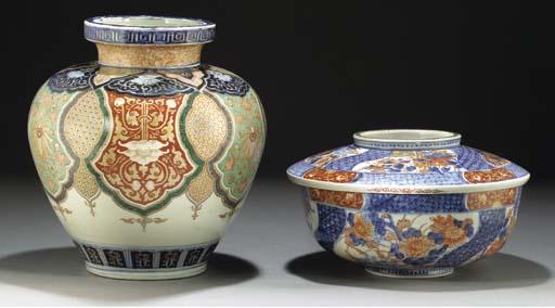 A Fukugawa squat baluster vase