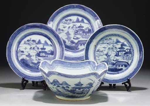 A Chinese blue and white flari