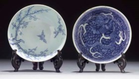 A Chinese blue and white bowl, Chenghua six character mark