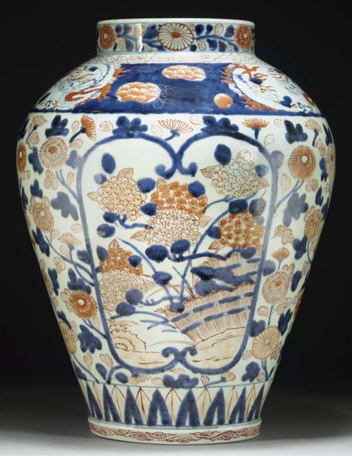An Imari baluster jar, early 1