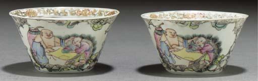 A pair of famille rose porcela