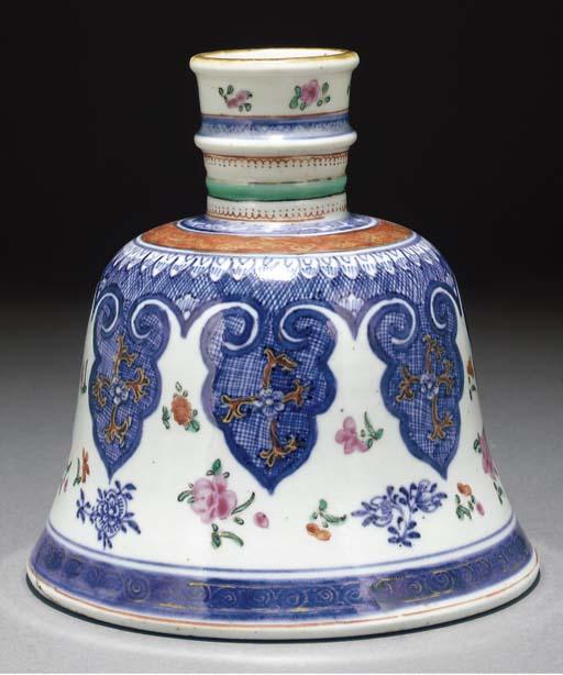 A famille rose porcelain huqqa